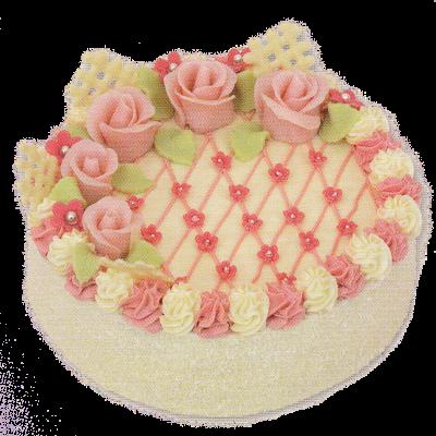 kokosový dort + přízdoba