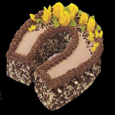 podkova čokoládová s přízdobou
