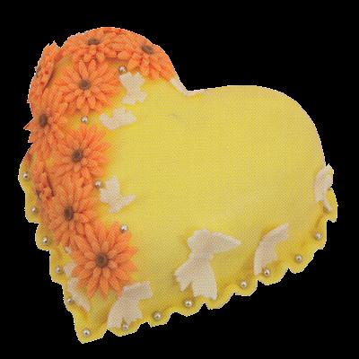 srdce- žluté kytky