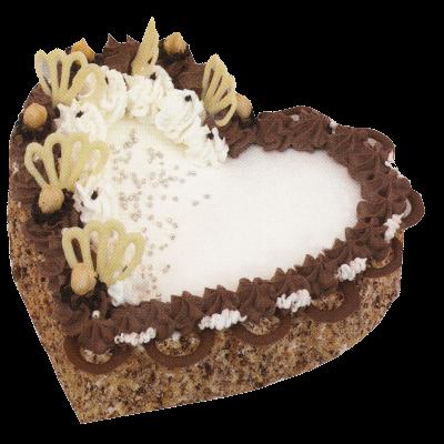 Šlehačkový dort-srdce410,-Kč