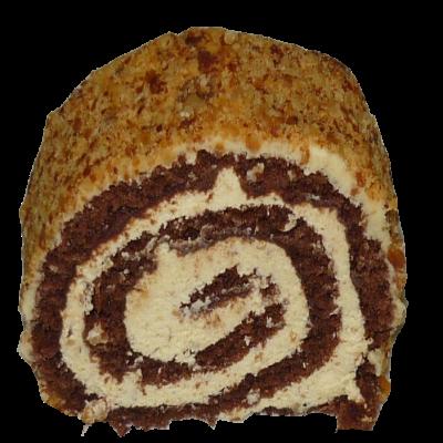 čoko-ořechová roláda