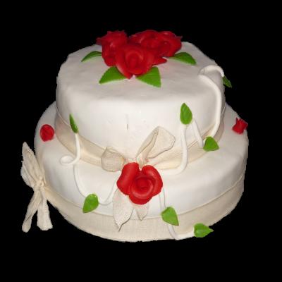 Svatba bílý s růžemi 1