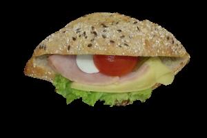 Bramborová bageta šunka - sýr35,-Kč