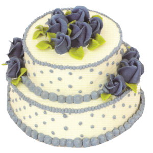 Svatební modré perly a růže