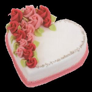Svatební srdce s růžemi
