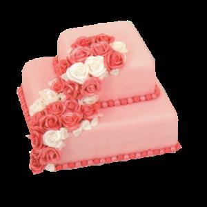 Svatební růžový s růžemi