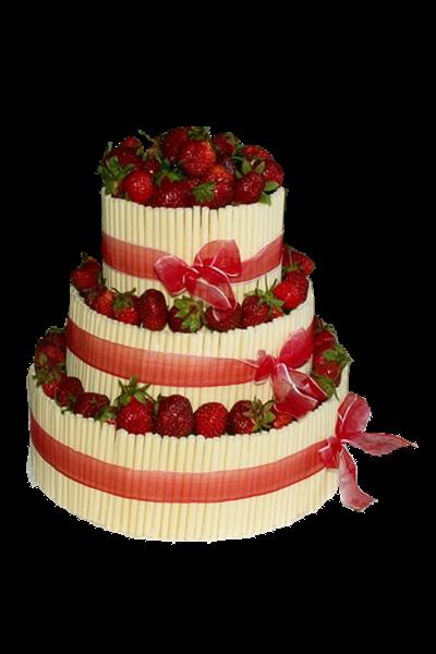 svatební dort jahody