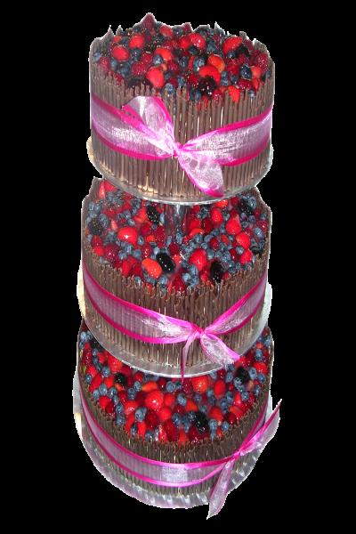 svatební dort lesní