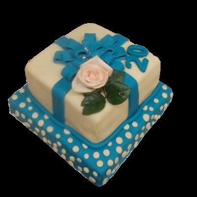 dárek modrobílý