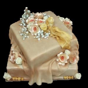 Svatební dort metalíza
