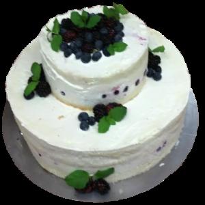Svatební dort borůvkový
